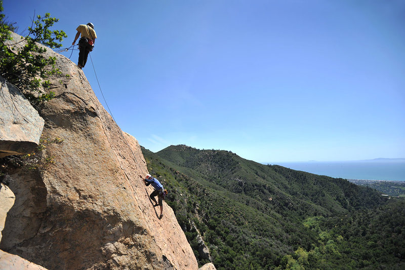 Rock Climbing Photo: Patrick Callery nears the summit of Fun in the Sun...