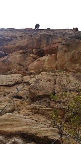 Rock Climbing Photo: 4th route to the right of the 3rd step sister