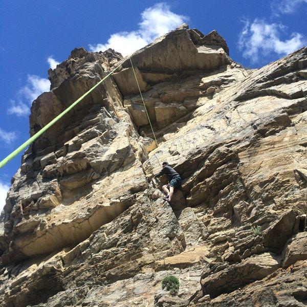 Rock Climbing Photo: Boyd on tr