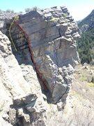 Rock Climbing Photo: Black: Zipadee Variation, Blue: Mr. Bluejay, Red: ...