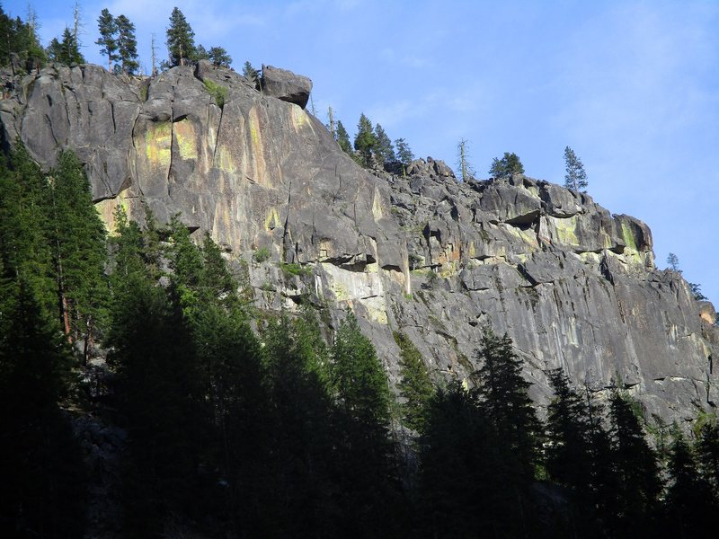 Midnight Rock (left) and Noontime Rock (right).