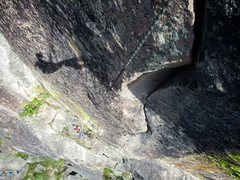 Rock Climbing Photo: Looking down ROTC while lowering off. What an awes...