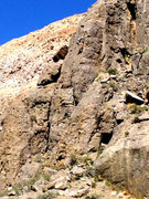 Rock Climbing Photo: Climber on the upper arete of Pee-Wee's Playhouse