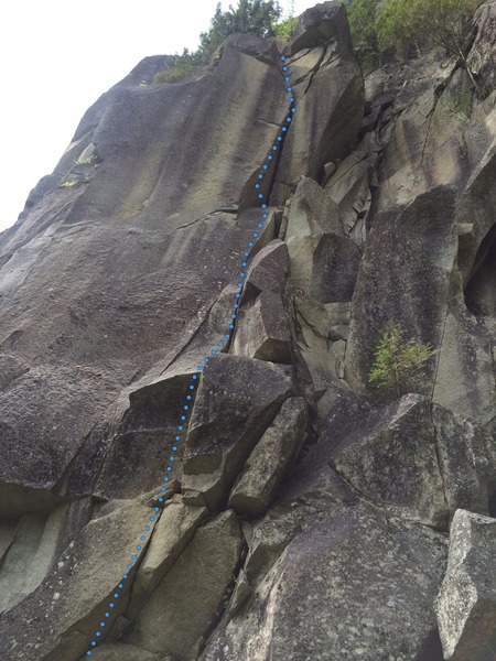 Rock Climbing Photo: Quarry Crack - Not sure if this is the right way t...