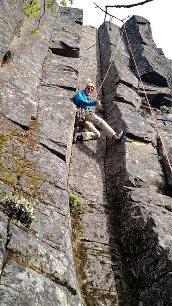 Rock Climbing Photo: Demonstrating the stemming that gets you up. Did n...