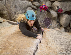 Rock Climbing Photo: Aaron Livingston makes quick work of the crux sect...