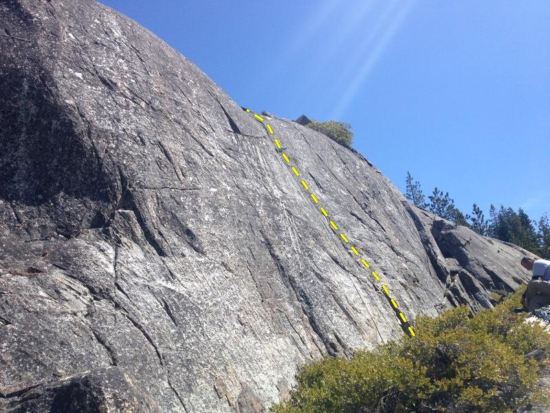 Rock Climbing Photo: 5.7- crack