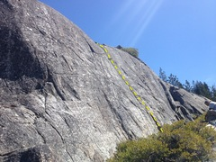 Rock Climbing Photo: 5.7- crack