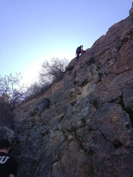 Rock Climbing Photo: Warmup run on baby teeth