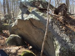 Rock Climbing Photo: Starting holds of this cool, little route.