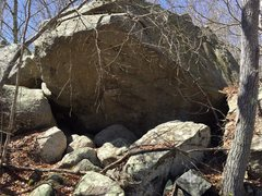 Rock Climbing Photo: This is a massive roof visible from the path on Ar...
