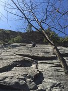 Rock Climbing Photo: Route starts at crack, and then follow straight up...