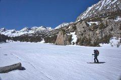 Rock Climbing Photo: Skinning across Mack Lake.