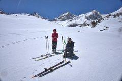 Rock Climbing Photo: Ski touring in the upper basins near Treasure Lake...