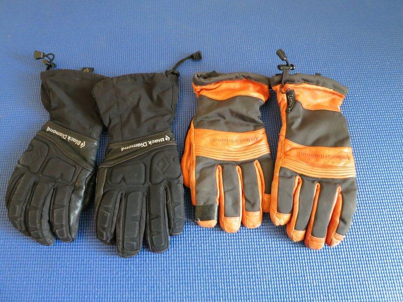 Black Diamond gloves, large - OK condition - $30 each