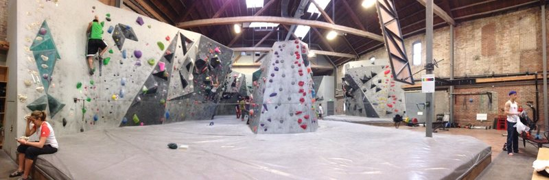 panoramic view of gym