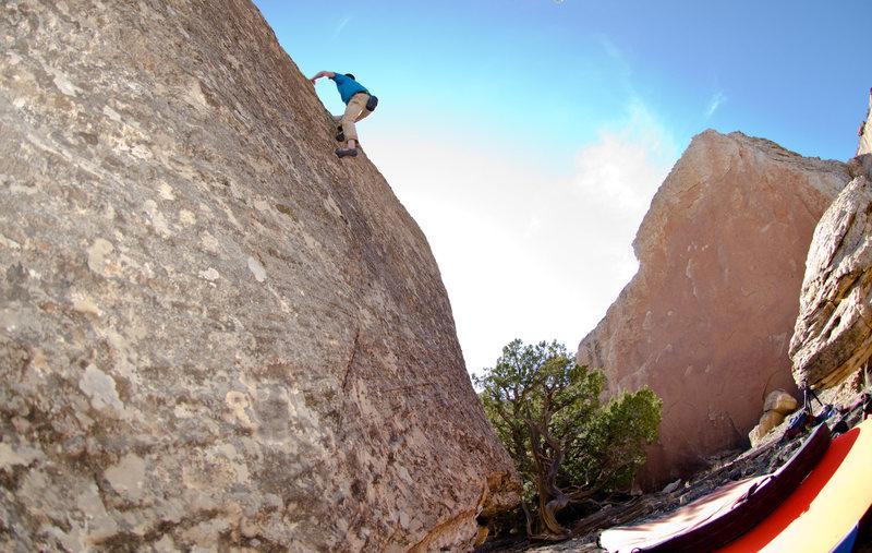 J.B. nearing the top.