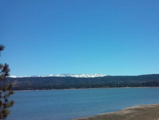 Rock Climbing Photo: Mt. San Gorgonio from Big Bear Lake, San Bernardin...