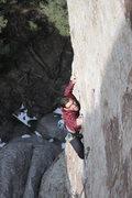 Rock Climbing Photo: Thin crimping on Tribal Boundaries