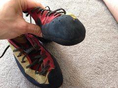 Left shoe rubber