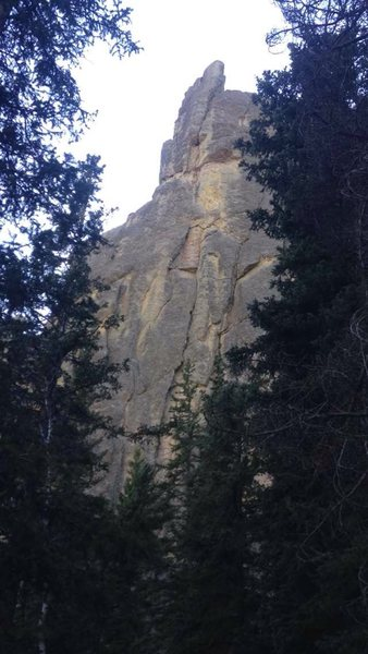 Rock Climbing Photo: Slightly better view of the route. There's a fixed...