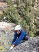 Rock Climbing Photo: Cragmaster finishing pitch one.