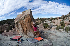 Rock Climbing Photo: Boxcar Arete, probably my favorite line in the are...