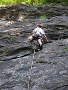 Rock Climbing Photo: Headin' to the anchor on Il Lupo.