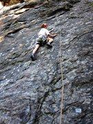Rock Climbing Photo: Carol climbing up the lower slabby part of Il Lupo