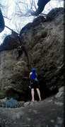 Rock Climbing Photo: Getting that stellar hand jam on the overhang of G...
