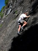 Rock Climbing Photo: Lower steep slab of Gipeto