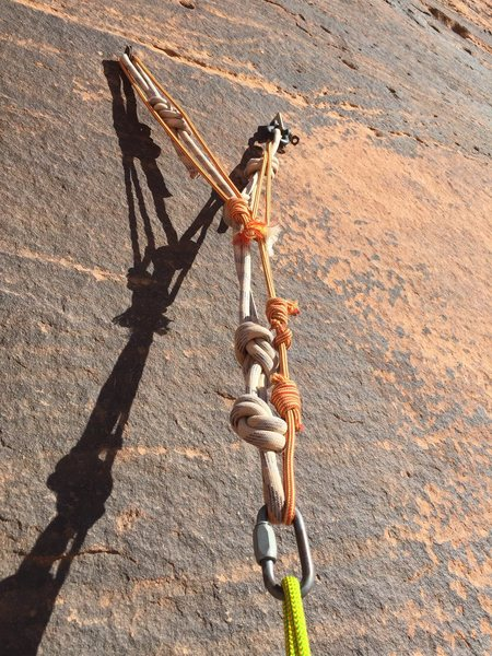 """An anchor in Wadi Rum, JD-- A place where the concepts of safety are much more """"fluid"""""""