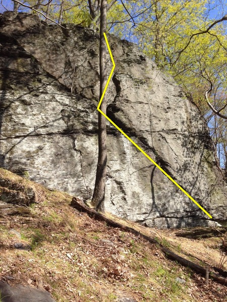 Rock Climbing Photo: The Kranken is drawn in yellow