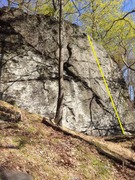 Rock Climbing Photo: Slab face with small, sometimes sloping, crimps an...