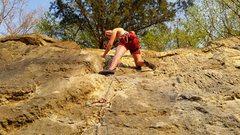 Rock Climbing Photo: Blaine on the FA