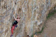 Rock Climbing Photo: Sadie on the presend go!
