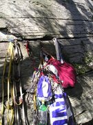 Rock Climbing Photo: zipped up, ready to tag