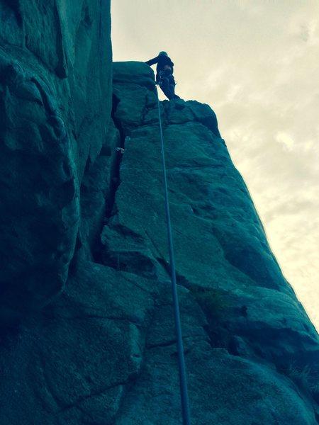 Trad climb at the gorge