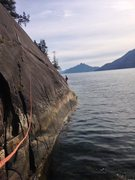 Rock Climbing Photo: The route was seeping in a couple of places, but i...