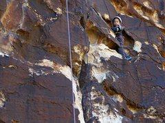 Rock Climbing Photo: Navigating in the cheesy terrain.