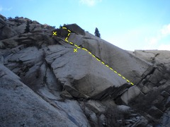 Rock Climbing Photo: The entire route from across the gully