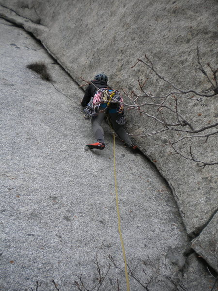 Rock Climbing Photo: J-Sexy on the opening moves