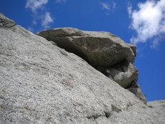 "Rock Climbing Photo: Entering the 'Wizard's Chin"""