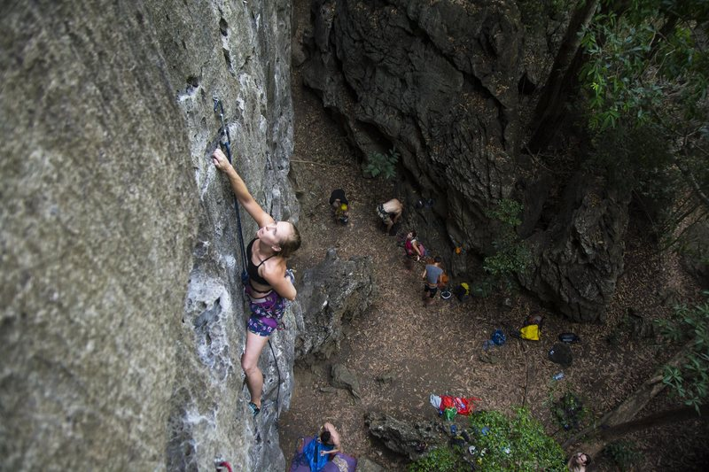 Rock Climbing Photo: Katie on White Rabbit
