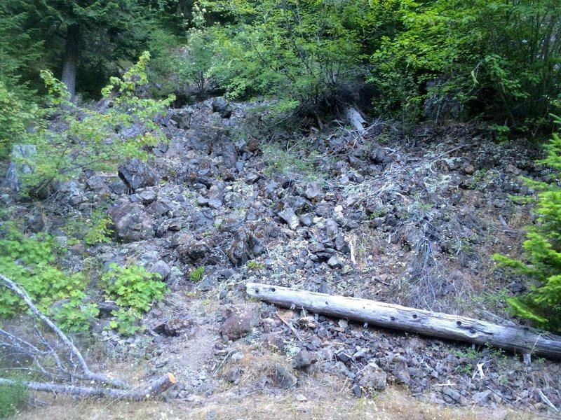 Rock Climbing Photo: Hike up here