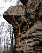 Rock Climbing Photo: Breaking a Cold Sweat - rightmost line