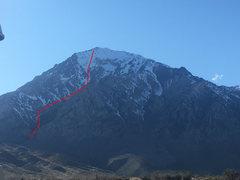 Rock Climbing Photo: Liberty Route photo topo