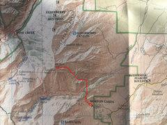 Rock Climbing Photo: Map of liberty route