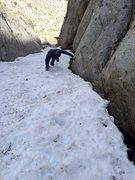 Rock Climbing Photo: Early season descent.