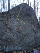 Rock Climbing Photo: These are the starting holds I used, is this what ...
